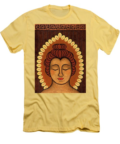 Men's T-Shirt (Slim Fit) featuring the painting Radiant Peace by Gloria Rothrock