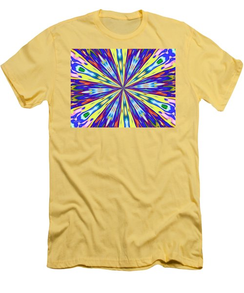 Rainbow In Space Men's T-Shirt (Slim Fit) by Alec Drake