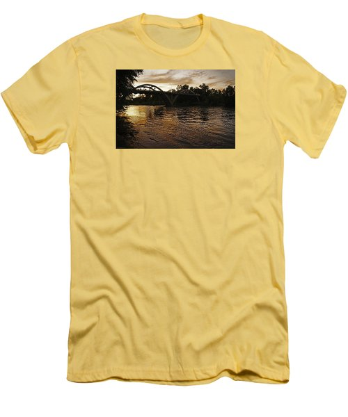 Rogue River Sunset Men's T-Shirt (Slim Fit) by Mick Anderson