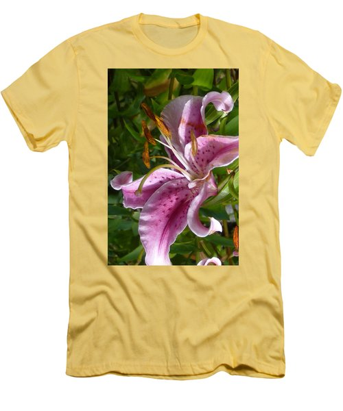 Rubrum Lily Men's T-Shirt (Slim Fit) by Carla Parris