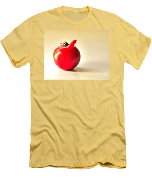 Saucy Tomato Men's T-Shirt (Slim Fit) by Sean Griffin