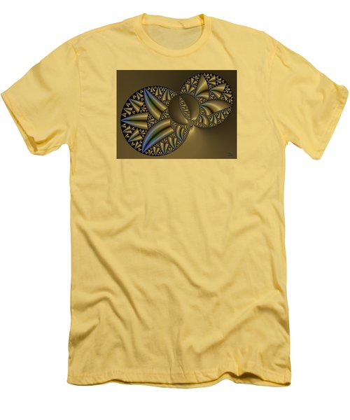 Men's T-Shirt (Slim Fit) featuring the digital art Senza Fine by Manny Lorenzo