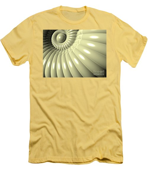 Men's T-Shirt (Slim Fit) featuring the digital art Shell Of Repetition by Phil Perkins
