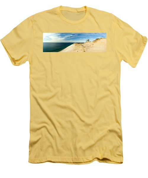 Sleeping Bear Dunes Men's T-Shirt (Slim Fit) by Larry Carr