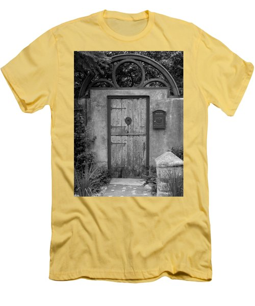 Spanish Renaissance Courtyard Door Men's T-Shirt (Athletic Fit)