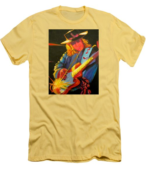 Stevie Ray Vaughn Men's T-Shirt (Slim Fit) by Jeanette Jarmon