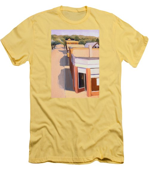 Stoneham Square Three 1979 Men's T-Shirt (Slim Fit) by Nancy Griswold