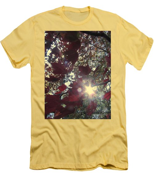 Men's T-Shirt (Slim Fit) featuring the photograph Sun Shine Through by Donna Brown