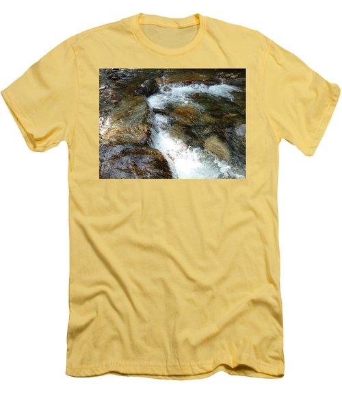 Sunlit Cascade Men's T-Shirt (Athletic Fit)