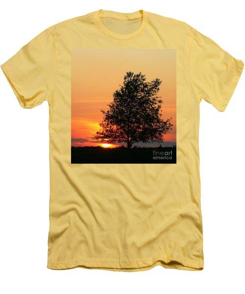Sunset Square Men's T-Shirt (Athletic Fit)