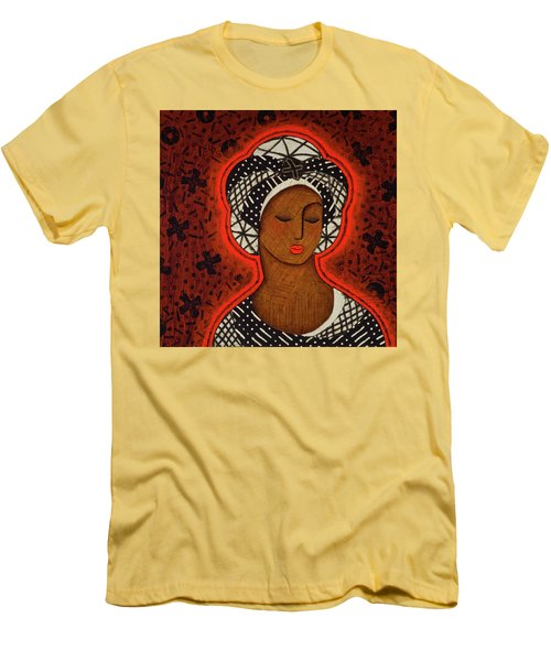 Men's T-Shirt (Slim Fit) featuring the painting The Dawn Of Knowing by Gloria Rothrock