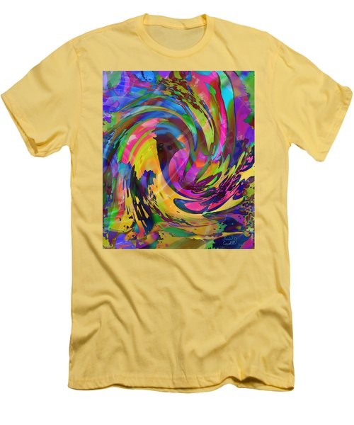 Men's T-Shirt (Slim Fit) featuring the mixed media Tsunami by Kevin Caudill