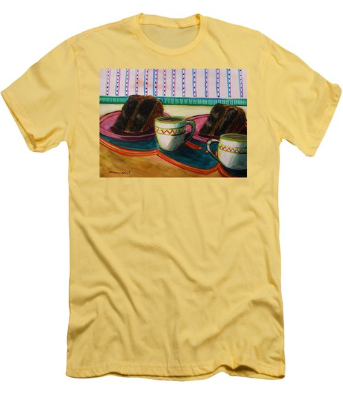 Men's T-Shirt (Slim Fit) featuring the painting Twin Devil's Food by John Williams