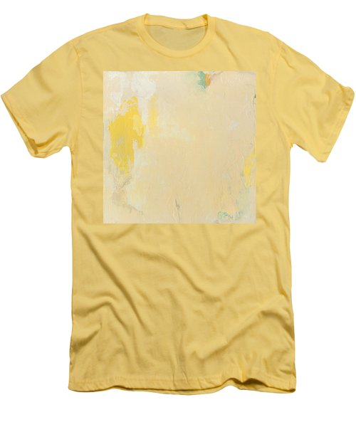 Untitled Abstract - Bisque With Yellow Men's T-Shirt (Athletic Fit)
