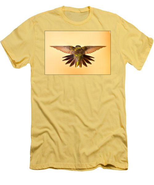 Men's T-Shirt (Slim Fit) featuring the photograph Usaf Hummingbirds Wings by Randall Branham