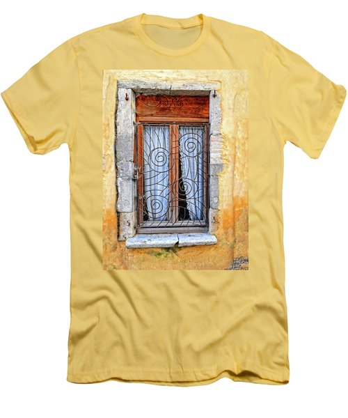 Men's T-Shirt (Slim Fit) featuring the photograph Window Provence France by Dave Mills