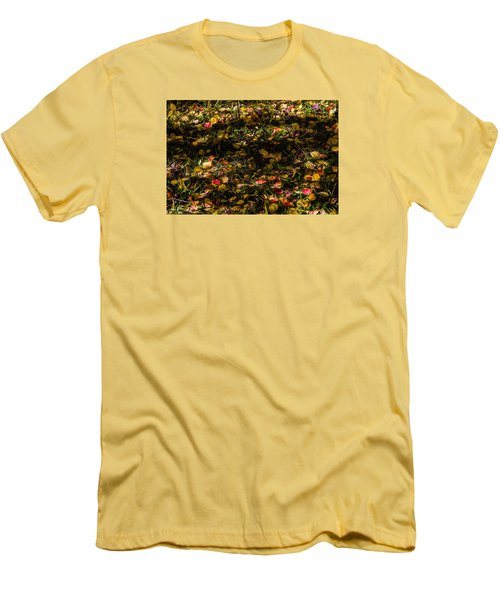 Autumn's Mosaic Men's T-Shirt (Slim Fit) by Alana Thrower
