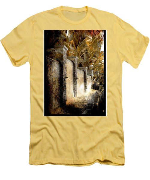 Flowing Waterfall  Men's T-Shirt (Slim Fit) by Athala Carole Bruckner