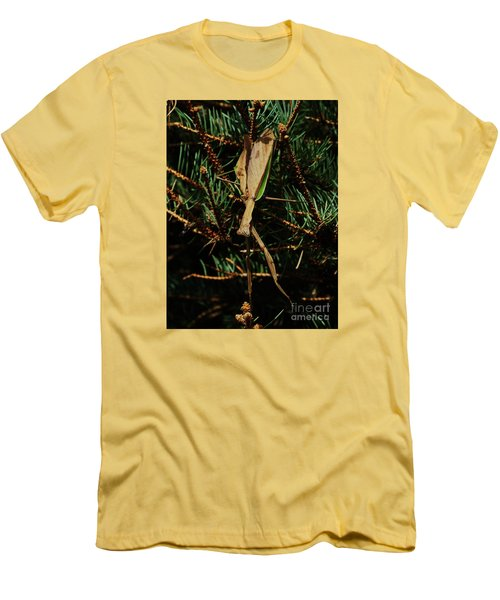 Hanging Mantis  Men's T-Shirt (Athletic Fit)
