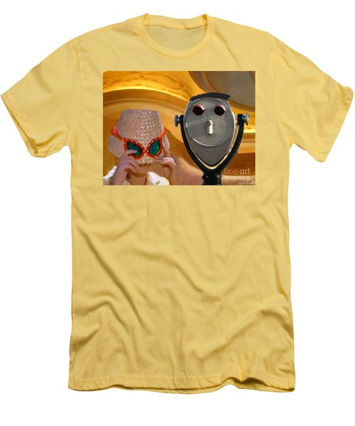 Men's T-Shirt (Slim Fit) featuring the digital art  Metered Thoughts by Lyric Lucas