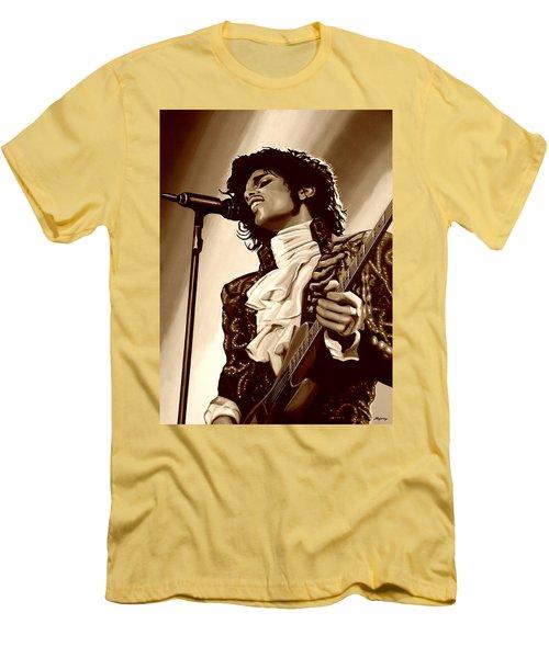 Prince The Artist Men's T-Shirt (Slim Fit) by Paul Meijering
