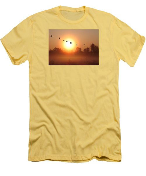 Returning South Men's T-Shirt (Slim Fit) by I\'ina Van Lawick