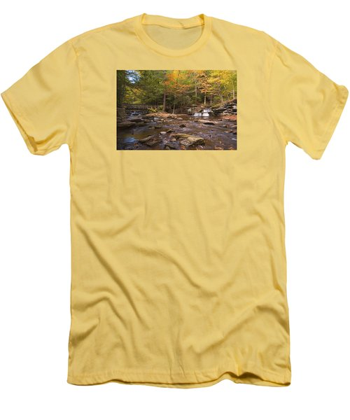 Men's T-Shirt (Slim Fit) featuring the photograph  Watching The Waters Meet by Gene Walls