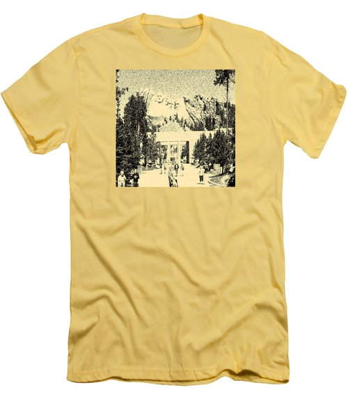 04252015 Mount Rush More Men's T-Shirt (Slim Fit) by Garland Oldham
