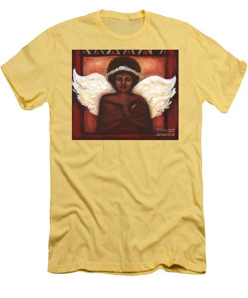 Men's T-Shirt (Slim Fit) featuring the mixed media Angel by Alga Washington