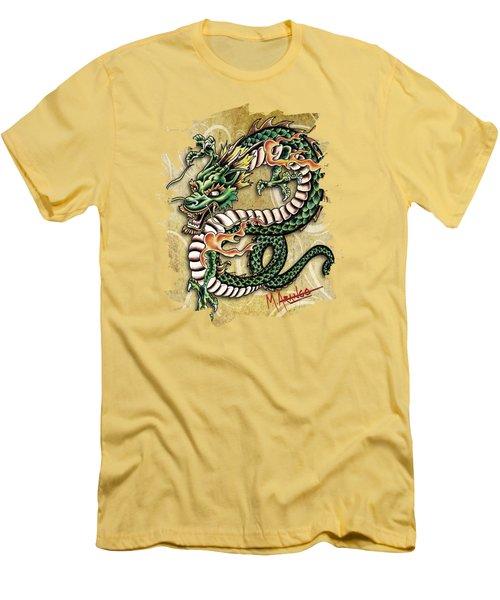 Asian Dragon Men's T-Shirt (Slim Fit) by Maria Arango