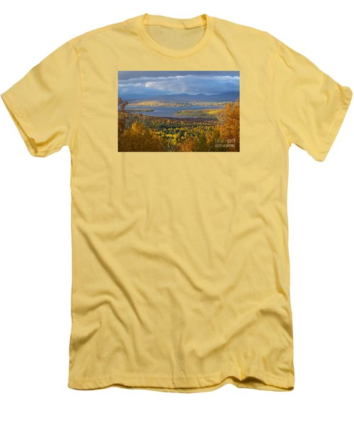 Autumn Splendor Men's T-Shirt (Slim Fit) by Alana Ranney