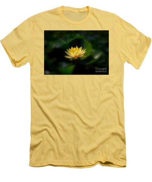 Yellow Lotus Men's T-Shirt (Athletic Fit)