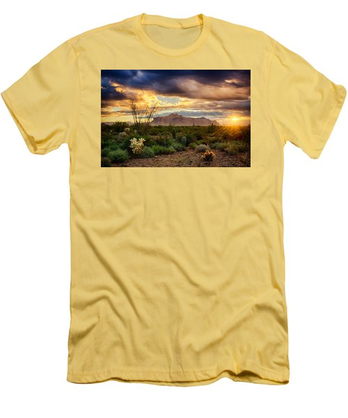 Beauty In The Desert Men's T-Shirt (Athletic Fit)