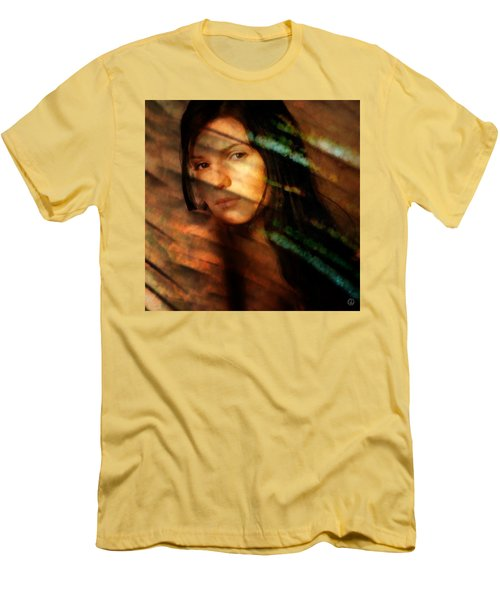 Men's T-Shirt (Slim Fit) featuring the digital art Behind The Curtain by Gun Legler