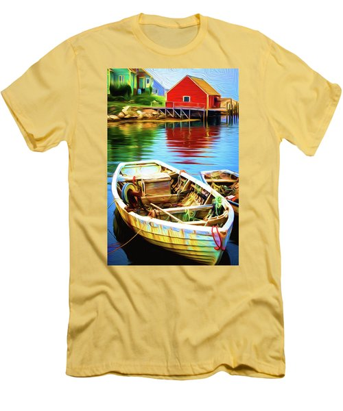 Boats Men's T-Shirt (Slim Fit) by Andre Faubert