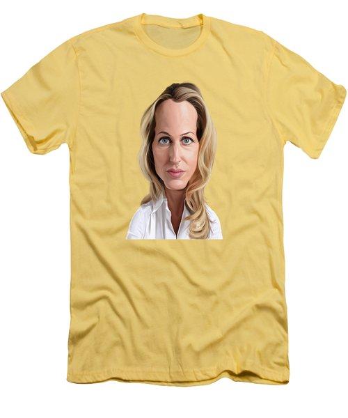 Celebrity Sunday - Gillian Anderson Men's T-Shirt (Athletic Fit)