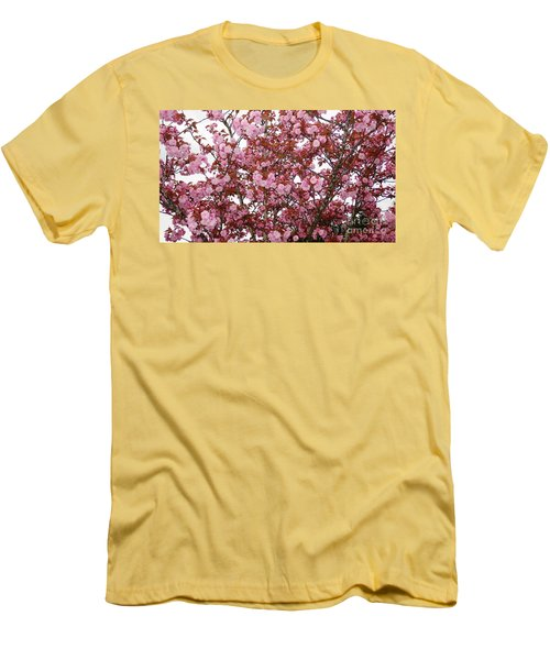 Men's T-Shirt (Slim Fit) featuring the photograph Cherry Blossoms  by Victor K
