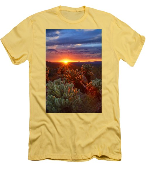 Cholla Sunset  Men's T-Shirt (Athletic Fit)