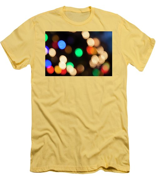 Men's T-Shirt (Slim Fit) featuring the photograph Christmas Lights by Susan Stone