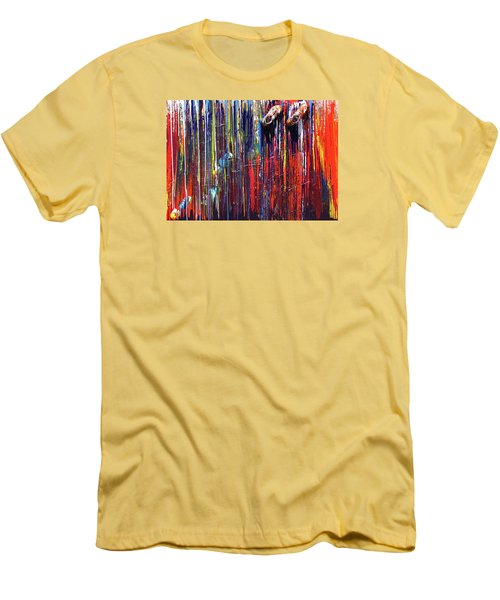 Climbing The Wall Men's T-Shirt (Slim Fit) by Ralph White