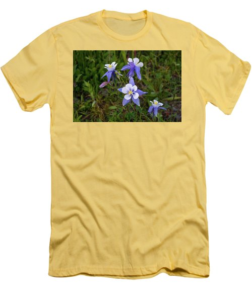 Men's T-Shirt (Slim Fit) featuring the photograph Colorado Columbine by Steve Stuller