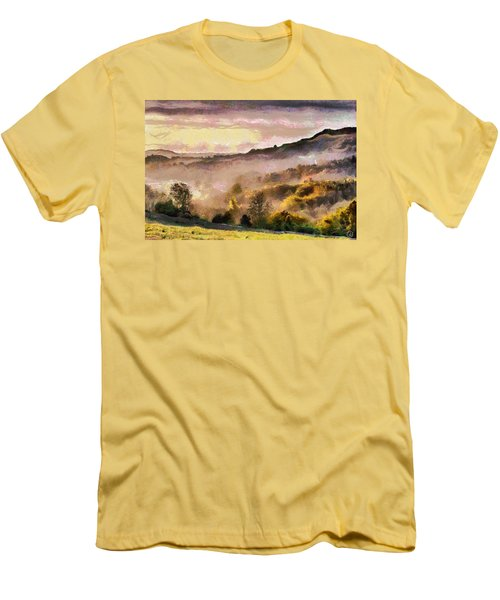 Men's T-Shirt (Slim Fit) featuring the digital art Colors Of Autumn by Gun Legler