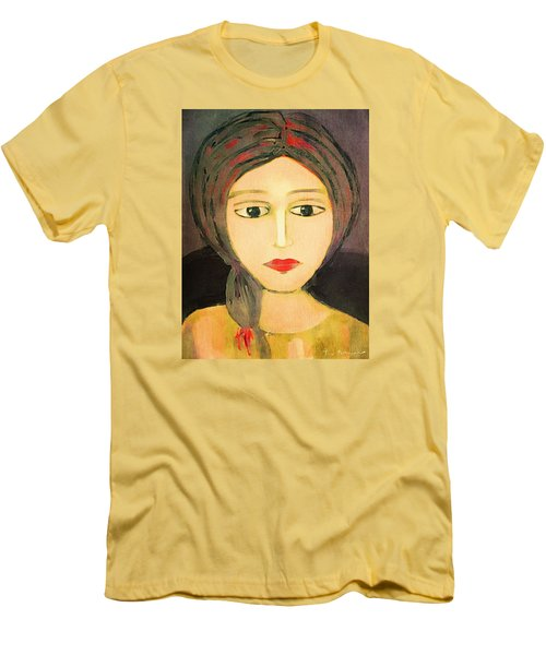 Men's T-Shirt (Slim Fit) featuring the digital art Emma by Lisa Noneman