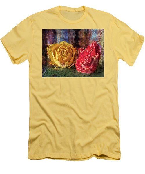 Men's T-Shirt (Slim Fit) featuring the photograph Faded Flowers by Vladimir Kholostykh