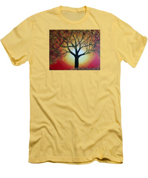 Golden Tree  Men's T-Shirt (Athletic Fit)
