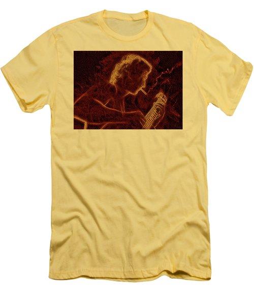 Guitar Player Men's T-Shirt (Slim Fit) by Alex Galkin