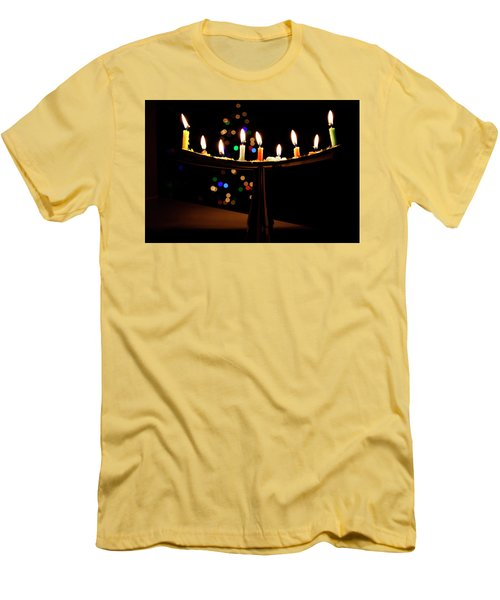 Men's T-Shirt (Slim Fit) featuring the photograph Happy Holidays by Susan Stone
