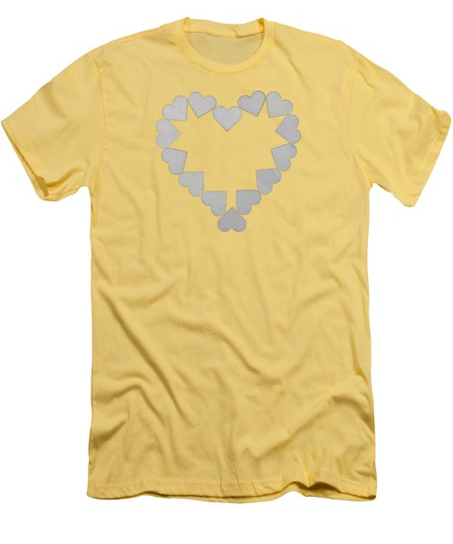 Heart Of Hearts Men's T-Shirt (Athletic Fit)