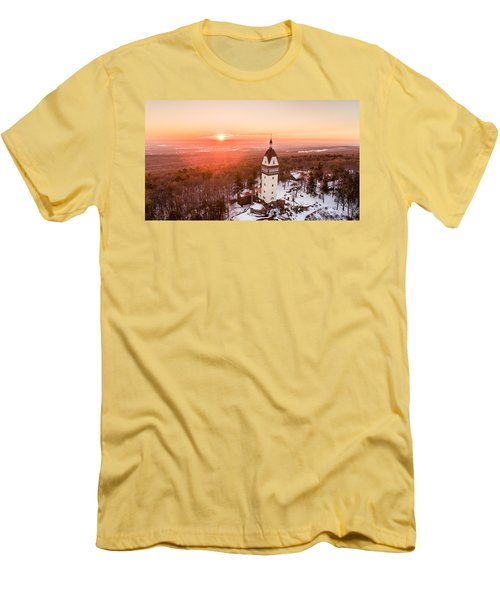 Men's T-Shirt (Slim Fit) featuring the photograph Heublein Tower In Simsbury, Connecticut by Petr Hejl