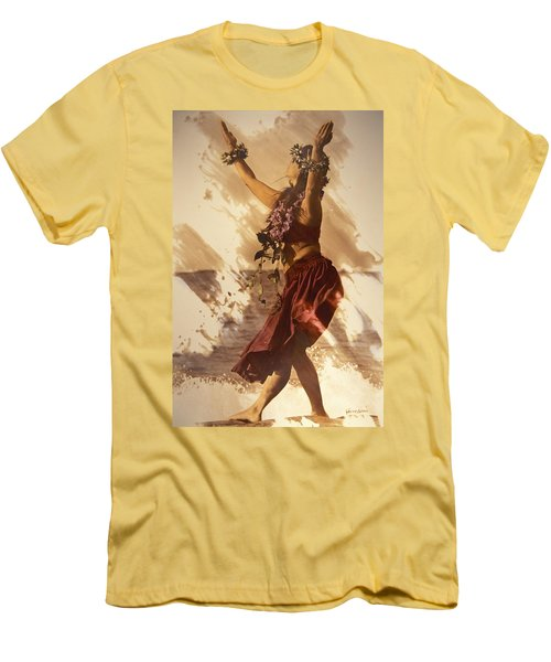 Hula On The Beach Men's T-Shirt (Slim Fit) by Himani - Printscapes